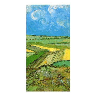 Wheat Fields at Auvers Under Clouded Sky Photo Card
