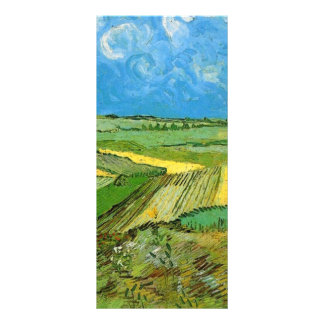 Wheat Fields at Auvers Under Clouded Sky Rack Card