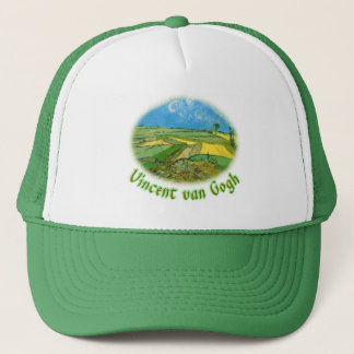 Wheat Fields at Auvers Under Clouded Sky, van Gog Trucker Hat