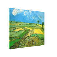 Wheat Fields at Auvers Under Clouded Sky, Vincent Stretched Canvas Prints