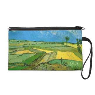 Wheat Fields at Auvers Under Clouded Sky Wristlet