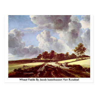 Wheat Fields By Jacob Isaackszoon Van Ruisdael Postcard