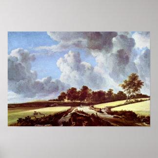 Wheat Fields By Ruisdael Jacob Isaaksz. Van Print