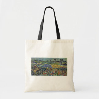 Wheat Fields Near Auvers By Vincent Van Gogh Canvas Bag