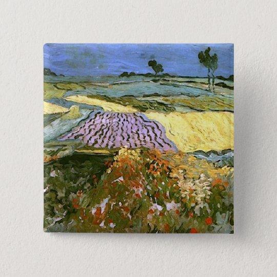 Wheat Fields Near Auvers Van Gogh Fine Art Button