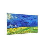 Wheat Fields Under Clouded Sky Van Gogh Canvas Print