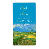 Wheat Fields wine labels Custom Shipping Labels