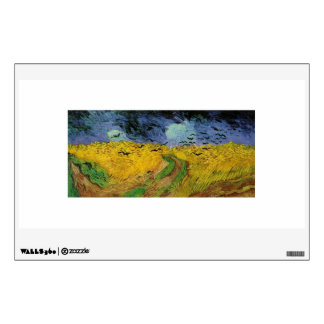 Wheat Fields with Crows by Van Gogh Wall Sticker