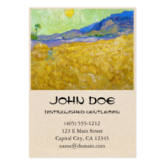 Wheat Fields with Reaper at Sunrise Van Gogh Business Cards