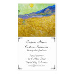 Wheat Fields with Reaper at Sunrise Van Gogh Double-Sided Standard Business Cards (Pack Of 100)