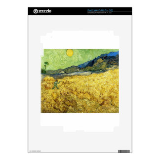Wheat Fields with Reaper at Sunrise - Van Gogh iPad 2 Skin