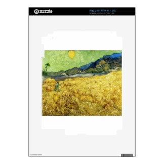 Wheat Fields with Reaper at Sunrise - Van Gogh iPad 2 Skins