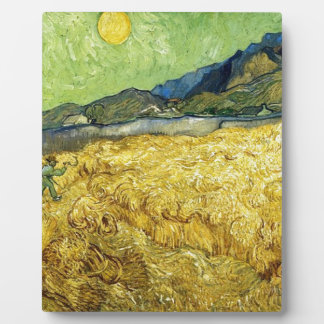 Wheat Fields with Reaper at Sunrise - Van Gogh Plaque