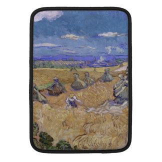 Wheat Fields with Reaper by Vincent Van Gogh Sleeves For MacBook Air
