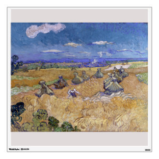 Wheat Fields with Reaper by Vincent Van Gogh Wall Sticker
