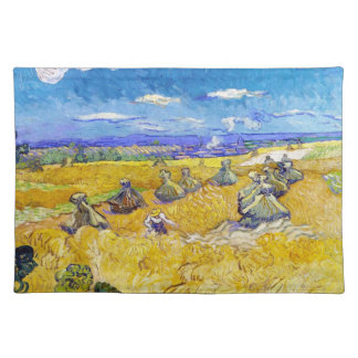 Wheat Fields with Reaper  Van Gogh Vincent Placemats