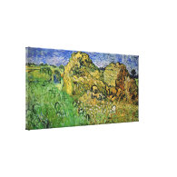 Wheat Fields with Stacks, Vincent van Gogh. Fine i Canvas Prints