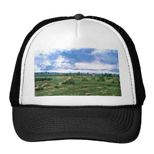 Wheat Fields with Stacks, Vincent van Gogh Trucker Hat