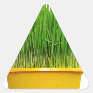Wheat Grass Triangle Sticker