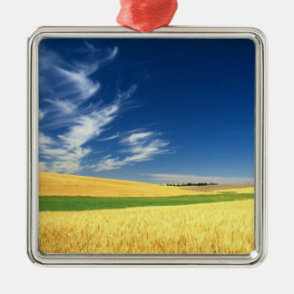 Wheat harvest on the Palouse in Eastern Metal Ornament