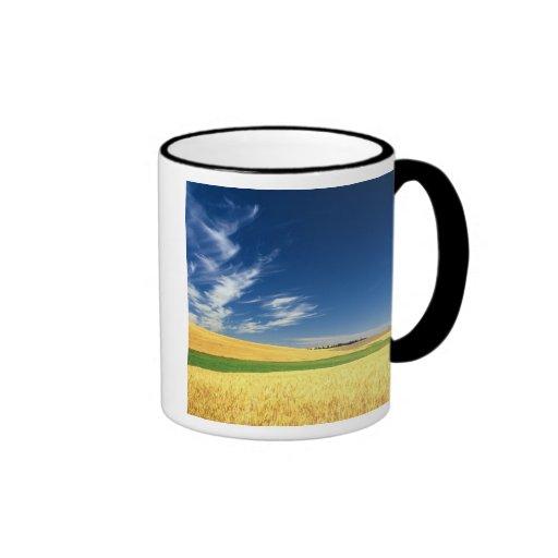 Wheat harvest on the Palouse in Eastern Ringer Coffee Mug