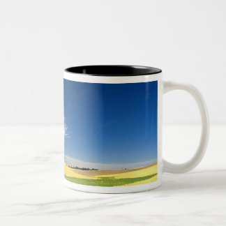 Wheat harvest on the Palouse in Eastern Two-Tone Coffee Mug
