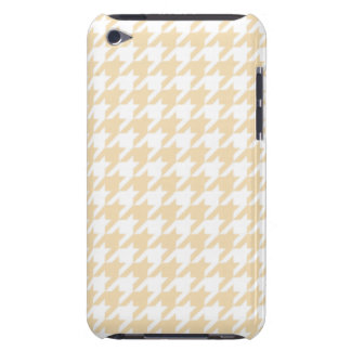 Wheat Houndstooth Barely There iPod Covers