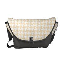 Wheat Houndstooth Messenger Bag