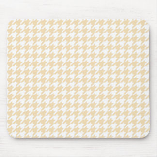 Wheat Houndstooth Mouse Pad