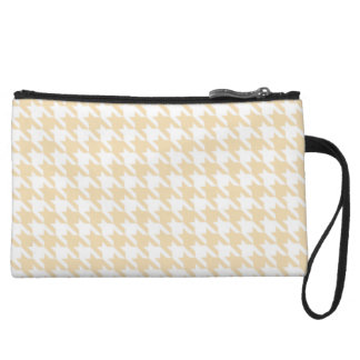 Wheat Houndstooth Wristlet