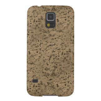 Wheat Natural Cork Bark Look Wood Grain Case For Galaxy S5