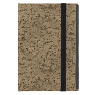 Wheat Natural Cork Bark Look Wood Grain iPad Mini Case