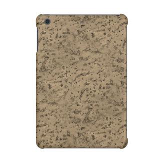 Wheat Natural Cork Bark Look Wood Grain iPad Mini Covers