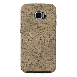 Wheat Natural Cork Bark Look Wood Grain Samsung Galaxy S6 Case