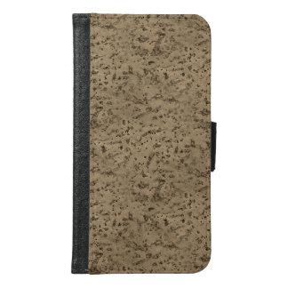 Wheat Natural Cork Bark Look Wood Grain Samsung Galaxy S6 Wallet Case