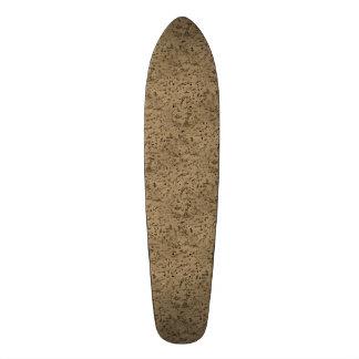 Wheat Natural Cork Bark Look Wood Grain Custom Skate Board