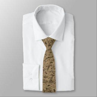 Wheat Natural Cork Bark Look Wood Grain Tie