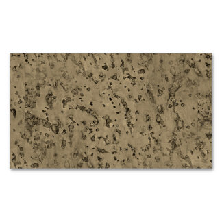 Wheat Natural Cork Bark Look Wood Grain Magnetic Business Cards (Pack Of 25)