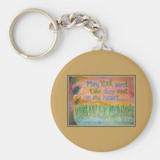 """Wheat Parable"" Basic Round Button Keychain"
