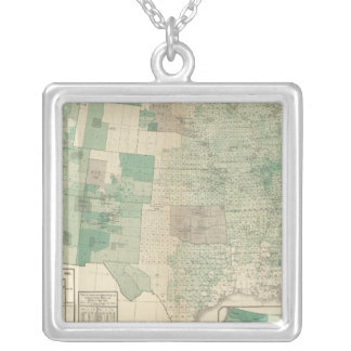 Wheat per acre sown silver plated necklace
