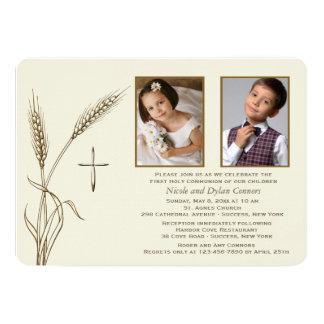 Wheat Religious Two Photo Invitation