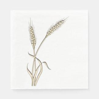 Wheat single grass PERSONALIZE Paper Napkin