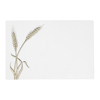 Wheat single grass PERSONALIZE Placemat