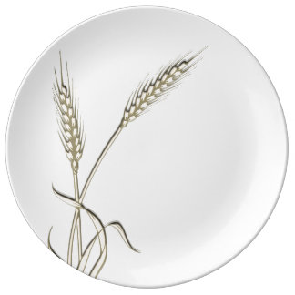 Wheat single grass PERSONALIZE Porcelain Plate