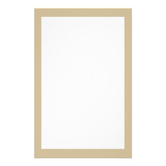 Wheat Solid Color Stationery