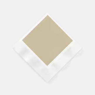 Wheat Solid Colored Coined Cocktail Napkin