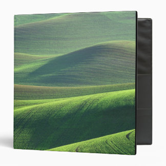 Wheat springs up in the hills of the Palouse 3 Ring Binder