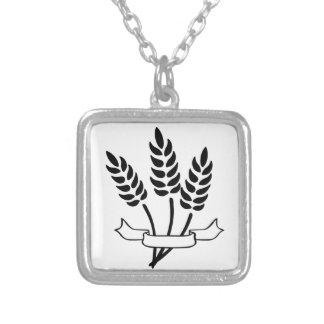 Wheat Square Pendant Necklace