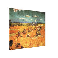 wheat Stacks with Reaper by Vincent van Gogh Stretched Canvas Prints