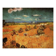 wheat Stacks with Reaper by Vincent van Gogh Posters